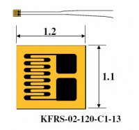 Miniature KYOWA strain gages for printed circuit boards